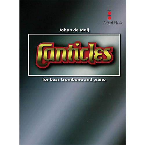 Amstel Music Canticles for Bass Trombone & Wind Orchestra (Study Score) Concert Band Composed by Johan de Meij