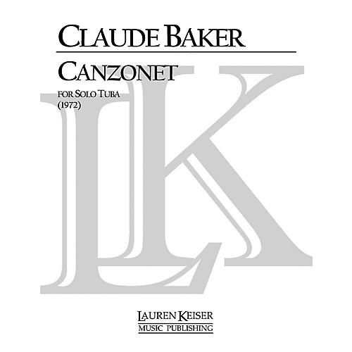 Lauren Keiser Music Publishing Canzonet (Tuba Solo) LKM Music Series Composed by Claude Baker-thumbnail