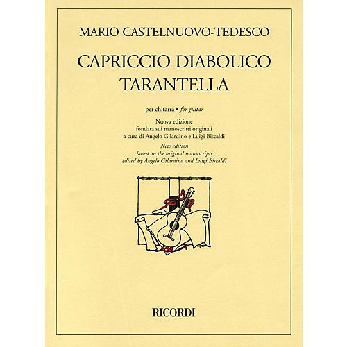 Ricordi Capriccio Diabolico and Tarantella (New Edition for Solo Guitar) Guitar Series-thumbnail