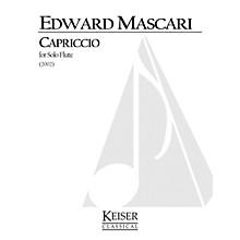 Lauren Keiser Music Publishing Capriccio (Flute Solo) LKM Music Series Composed by Edward P. Mascari