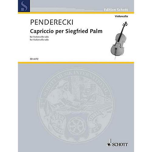 Schott Capriccio for Siegfried Palm (1968) (Cello Solo) Schott Series-thumbnail