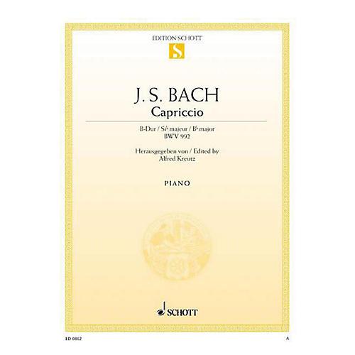 Schott Capriccio in B-flat Major, The Departure, BWV 992 Schott Series-thumbnail