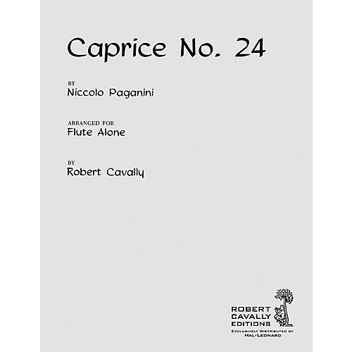 Hal Leonard Caprice No. 24 (Unaccompanied Flute) Robert Cavally Editions Series Composed by Niccolo Paganini