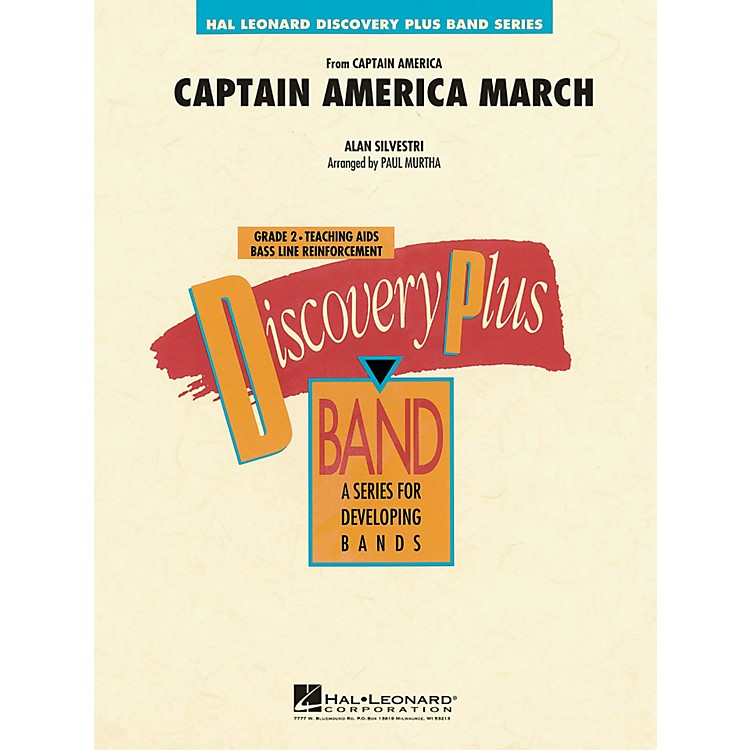 Hal LeonardCaptain America March - Discovery Plus! Concert Band Series Level 2
