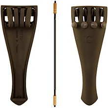 Otto Musica Carbon Composite Viola Tailpiece with Four Built-In Fine Tuners and Braided Steel Tailgut 16-17-in. Viola