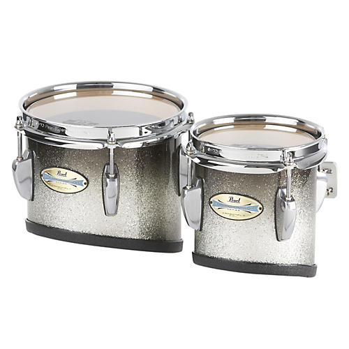 Pearl CarbonPly Mahogany Marching Tom with Attachment Bars Matte Carbon Fiber (#301) 6x6 & 8x8 set