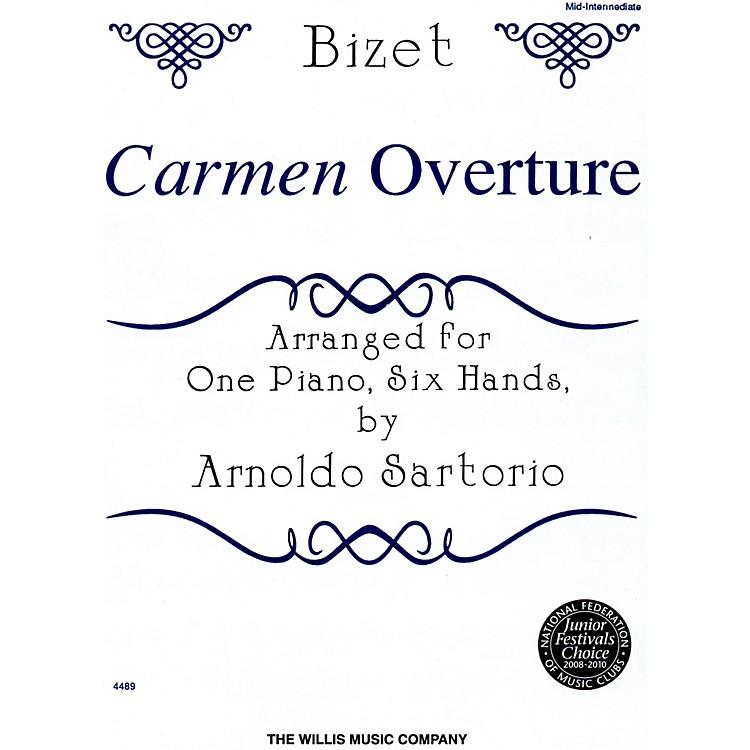 Willis MusicCarmen Overture Mid-Intermediate Level One Piano, Six Hands by Arnoldo Sartorio