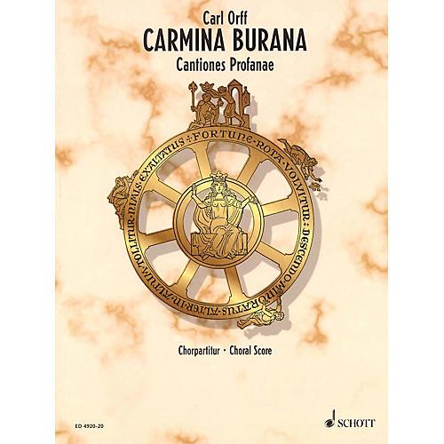Schott Carmina Burana (Choral Score) Composed by Carl Orff