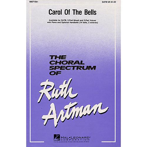 Hal Leonard Carol of the Bells 3-Part Mixed Arranged by Ruth Artman-thumbnail