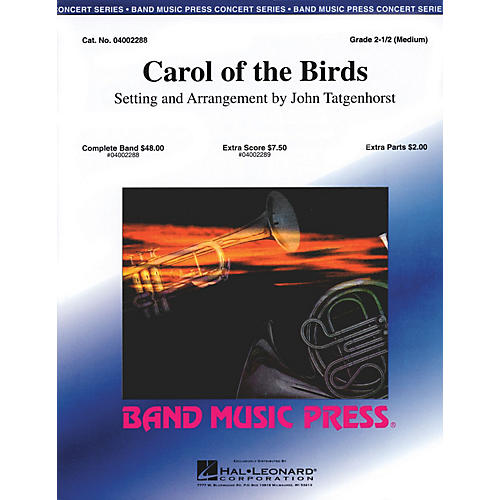 Band Music Press Carol of the Birds Concert Band Level 2.5 Arranged by John Tatgenhorst
