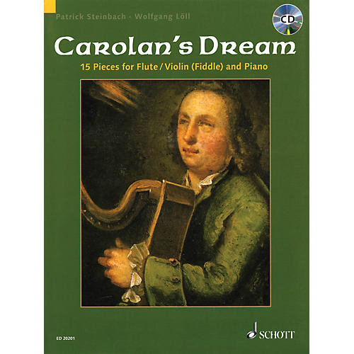 Schott Carolan's Dream (15 Pieces for Flute/Violin (Fiddle) and Piano) Instrumental Folio Series-thumbnail