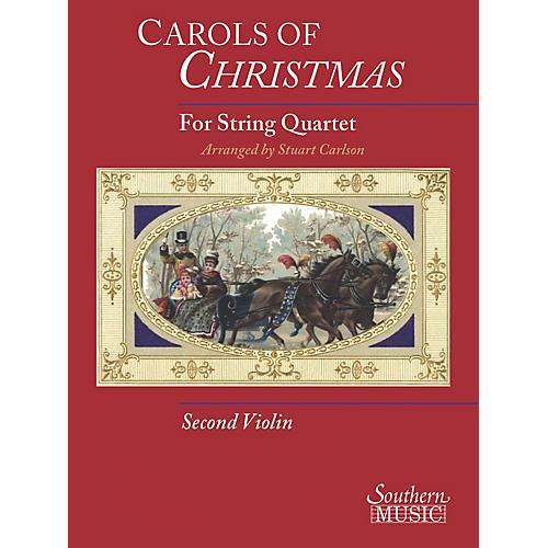 Hal Leonard Carols Of Christmas For String Quartet Violin 2 Book Southern Music Series-thumbnail