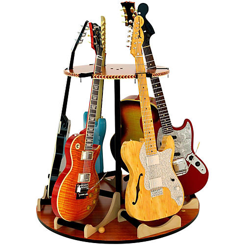 A&S Crafted Products Carousel Deluxe Multi-Guitar Stand-thumbnail