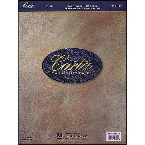 Hal Leonard Carta 34 Partpaper 9X12, Dbl Sided, 24 Sheet, 12 Stave Manuscript-thumbnail
