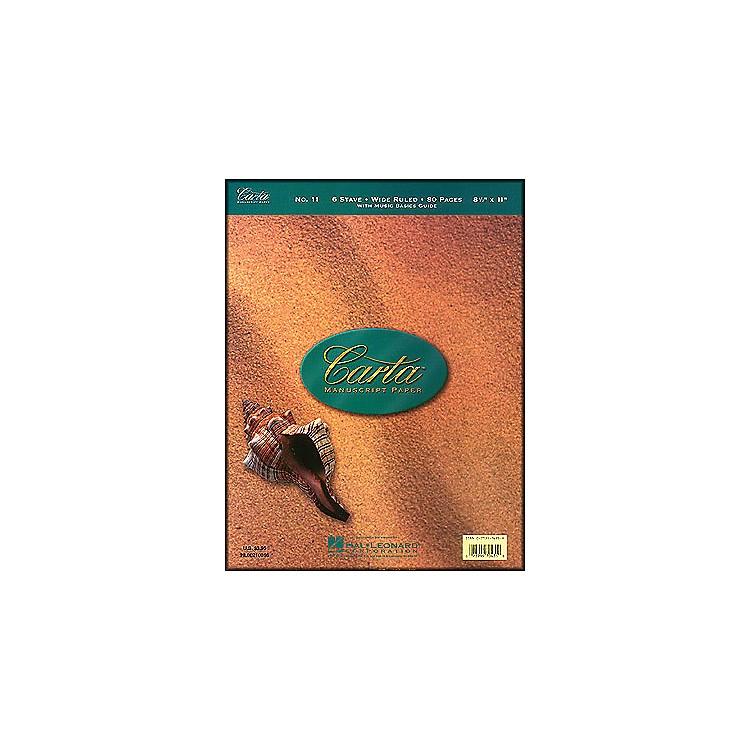 Hal LeonardCarta Manuscript 11 Writing Pad 8.5 X 11, 80 Pages, 6 Staves