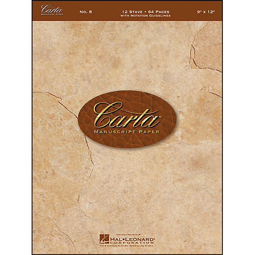 Hal Leonard Carta Manuscript Paper # 8 - Spiralbound, 9 X 12, 64 Pages, 12 Stave-thumbnail