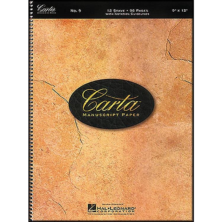 Hal LeonardCarta Manuscript Paper # 9 - Spiralbound, 9 X 12, 96 Pages, 12 Stave
