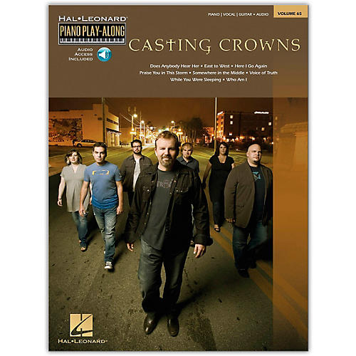 Hal Leonard Casting Crowns Piano Play- Along Volume 65 Book/CD arranged for piano, vocal, and guitar (P/V/G)
