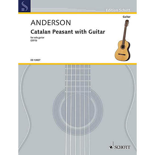 Schott Catalan Peasant with Guitar (for Solo Guitar) Guitar Series Softcover-thumbnail