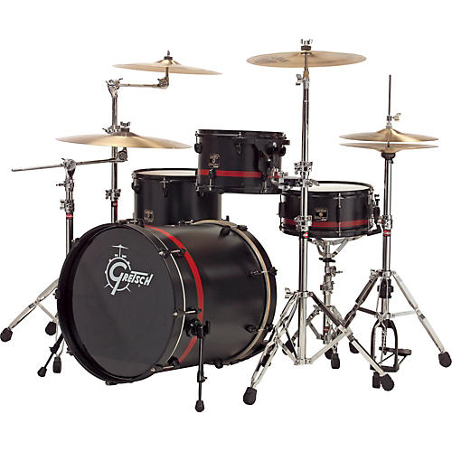 Gretsch drums catalina club black widow 4 piece shell pack for Classic house drums