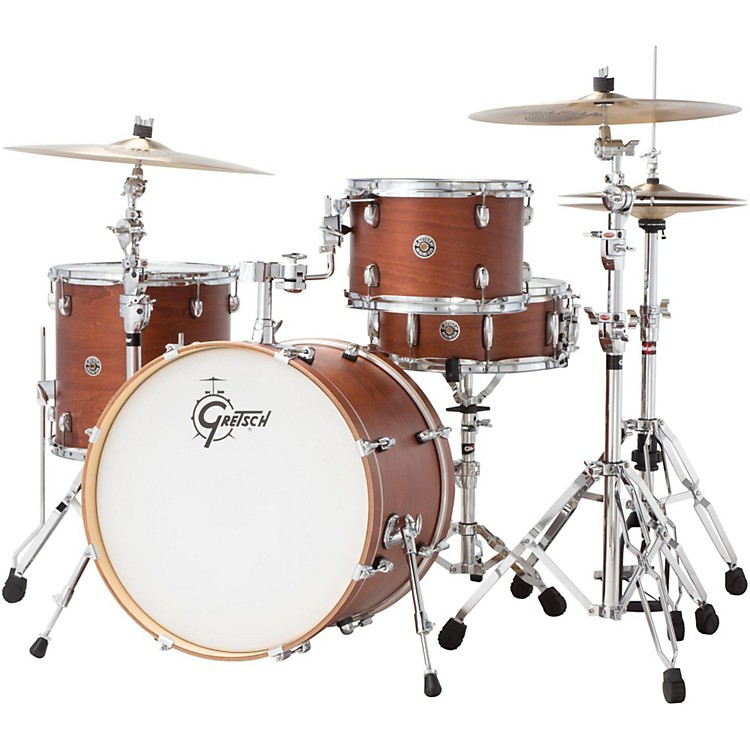 gretsch drums catalina club classic 4 piece shell pack with 20 bass drum satin walnut glaze. Black Bedroom Furniture Sets. Home Design Ideas