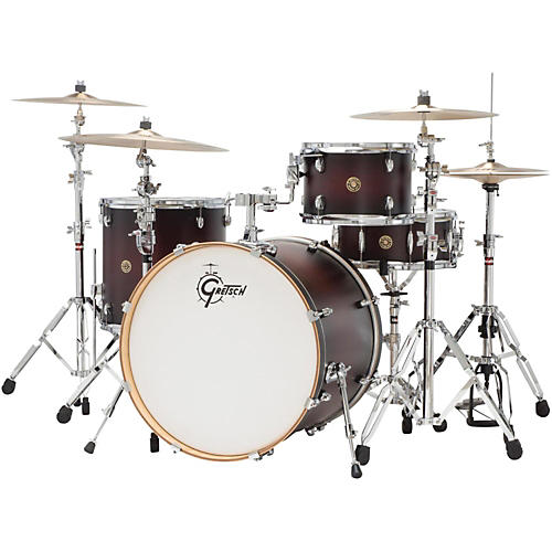 gretsch drums catalina maple 4 piece shell pack with 22 bass drum satin deep cherry burst. Black Bedroom Furniture Sets. Home Design Ideas
