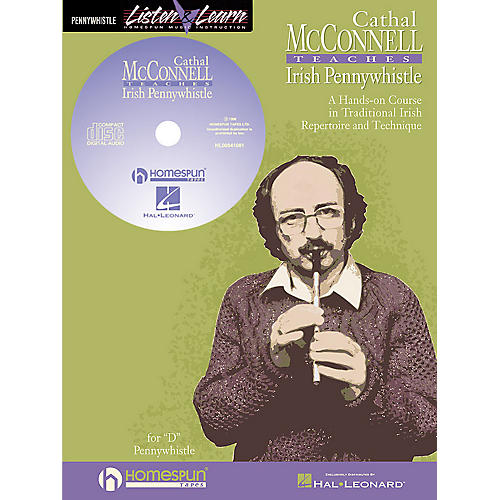 Hal Leonard Cathal Mcconnell Teaches Pennywhistle Homespun Tapes Series Softcover with CD by Cathal McConnell