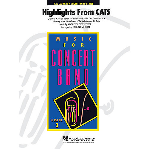 Hal Leonard Cats, Highlights from - Young Concert Band Level 3 by Johnnie Vinson-thumbnail