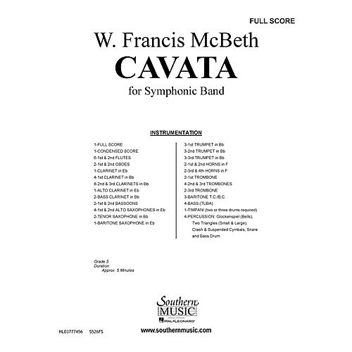 Southern Cavata (Band/Concert Band Music) Concert Band Level 2 Composed by W. Francis McBeth