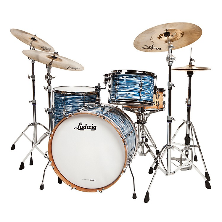Ludwig Cavern Club Fab 4 3-Piece Shell Pack Blue Oyster Pearl Blue Oyster Pearl