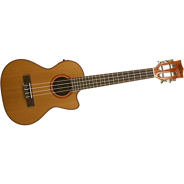 kala cedar top cutaway acoustic electric tenor ukulele natural musician 39 s friend. Black Bedroom Furniture Sets. Home Design Ideas