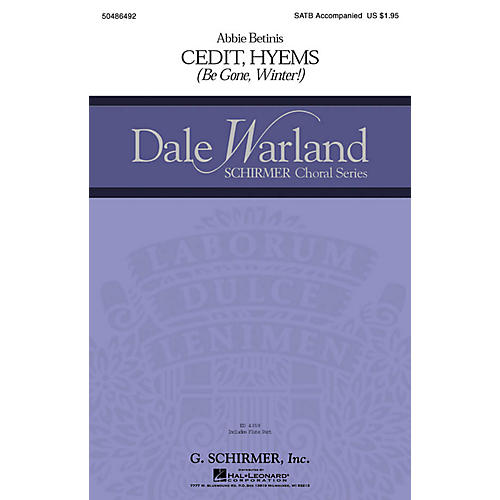 G. Schirmer Cedit Hyems (Be Gone, Winter!) (Dale Warland Choral Series) SATB composed by Abbie Betinis-thumbnail