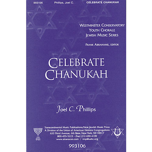 Transcontinental Music Celebrate Chanukah SATB composed by Joel Phillips-thumbnail