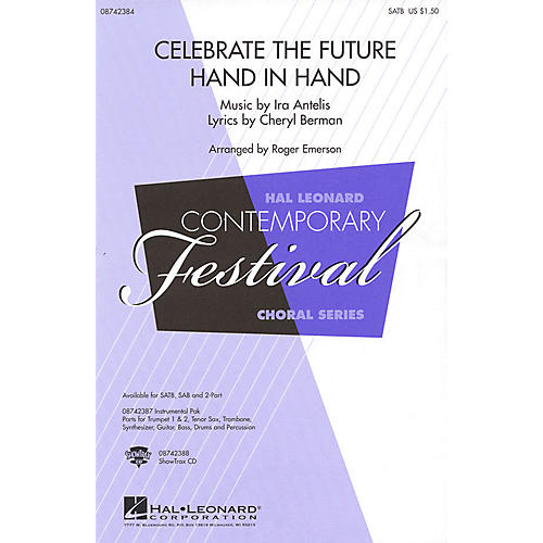 Hal Leonard Celebrate the Future Hand in Hand SAB Arranged by Roger Emerson