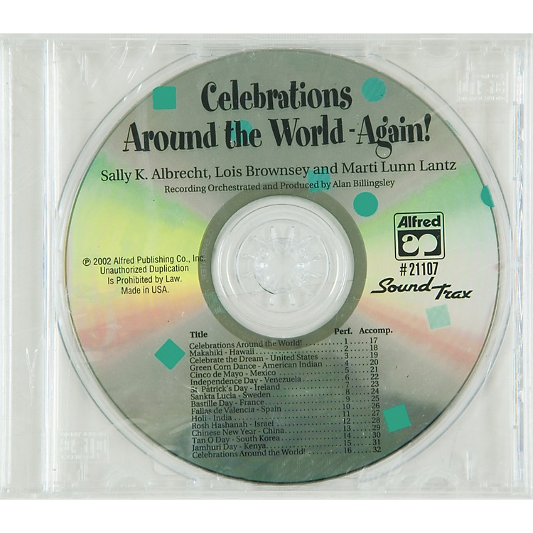 Alfred Celebration Around The World Again Soundtrax Cd