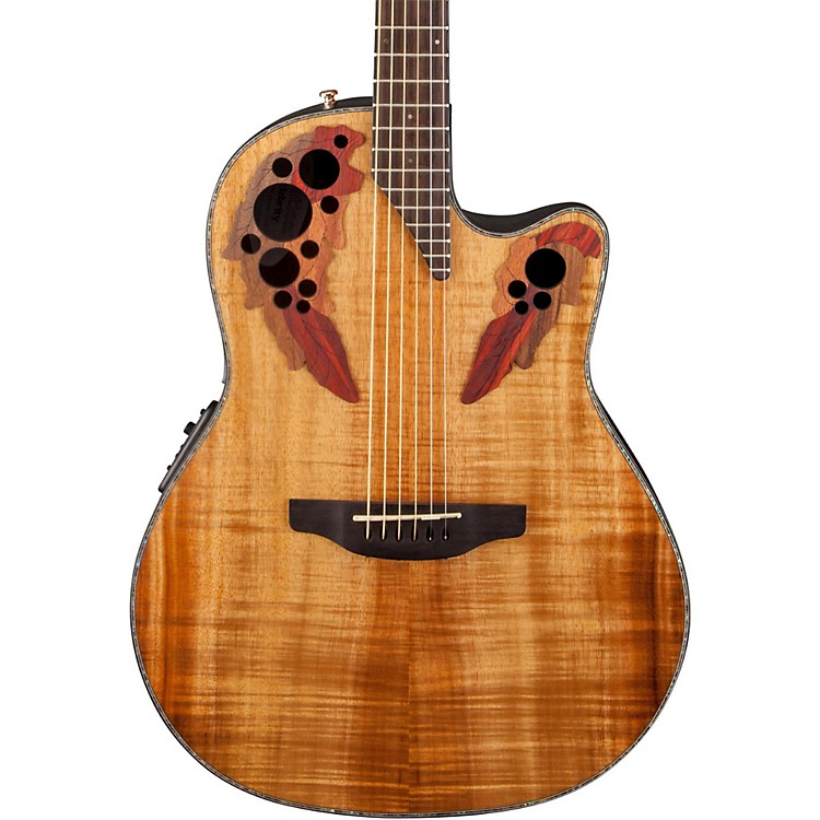 Ovation Celebrity Elite Plus Acoustic-Electric Guitar Figured Koa Natural
