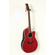 Ovation Celebrity Standard Mid-Depth Cutaway Acoustic-Electric Guitar Level 2 Ruby Red 190839061911
