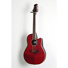 Ovation Celebrity Standard Mid-Depth Cutaway Acoustic-Electric Guitar Level 2 Ruby Red 190839062253