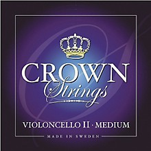 Crown Strings Cello Strings A, Medium 4/4 Size