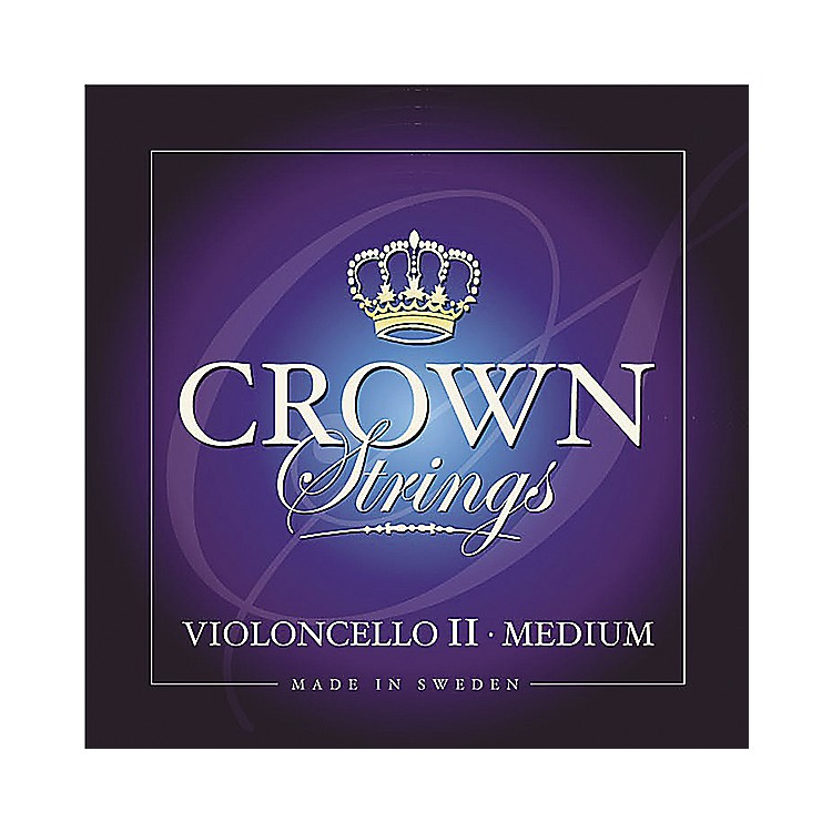 Crown Strings Cello Strings D, Medium 4/4 Size
