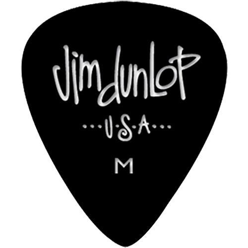 Dunlop Celluloid Classic Guitar Picks 1 Dozen Black Medium