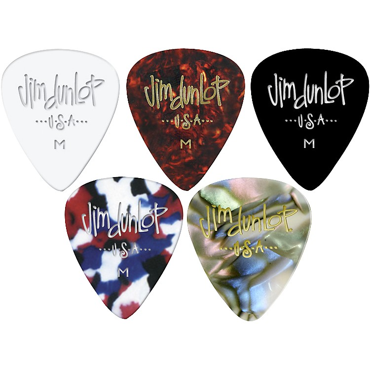 Dunlop Celluloid Classic Guitar Picks 1 Dozen Abalone Medium