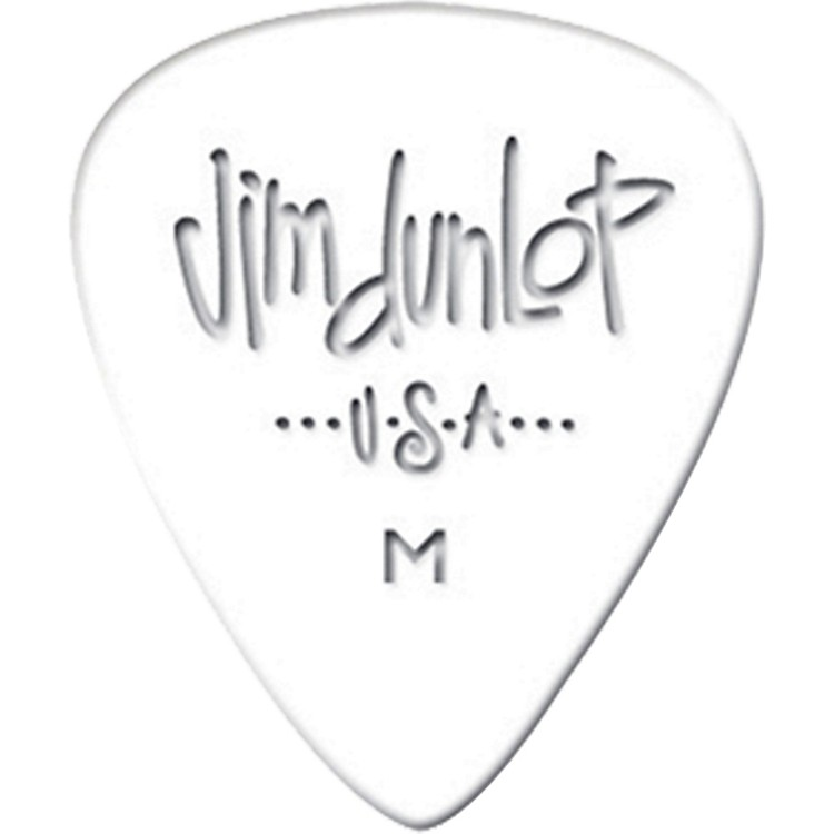 Dunlop Celluloid Classic Guitar Picks 1 Dozen White Thin