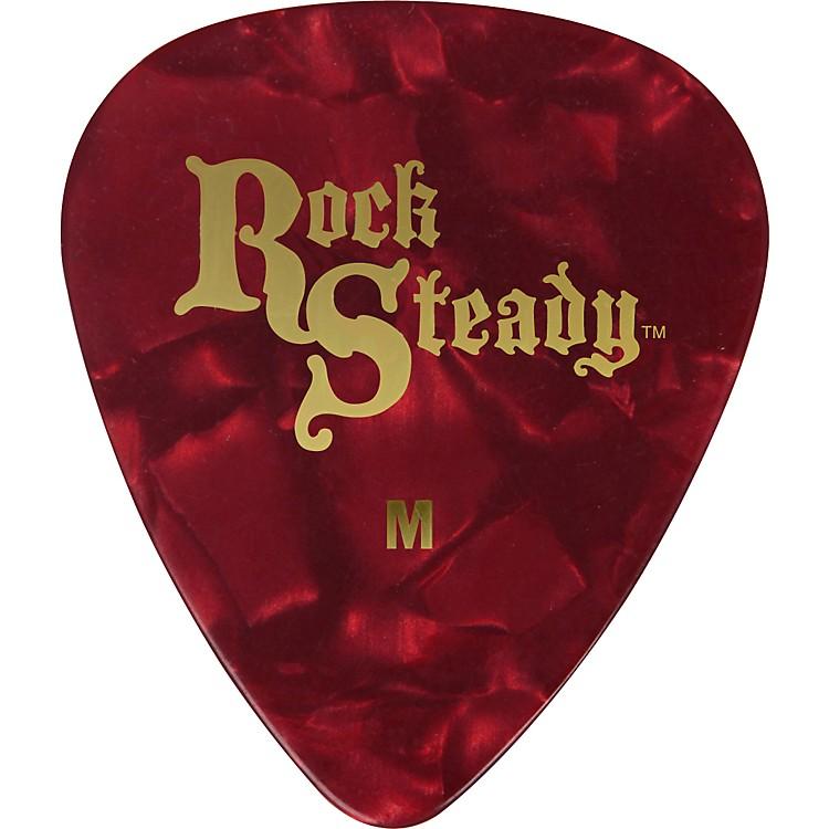 Rock SteadyCelluloid Guitar Picks - 1 DozenRed PearlMedium