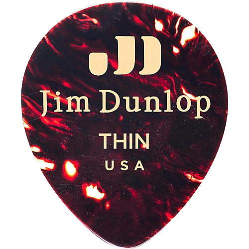 Dunlop Celluloid Teardrop Guitar Picks, Shell-thumbnail