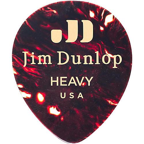 Dunlop Celluloid Teardrop, Shell Guitar Picks Heavy 72 Pack