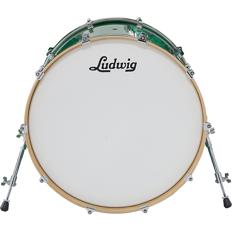 Ludwig Centennial Bass Drum Green Sparkle 22X20