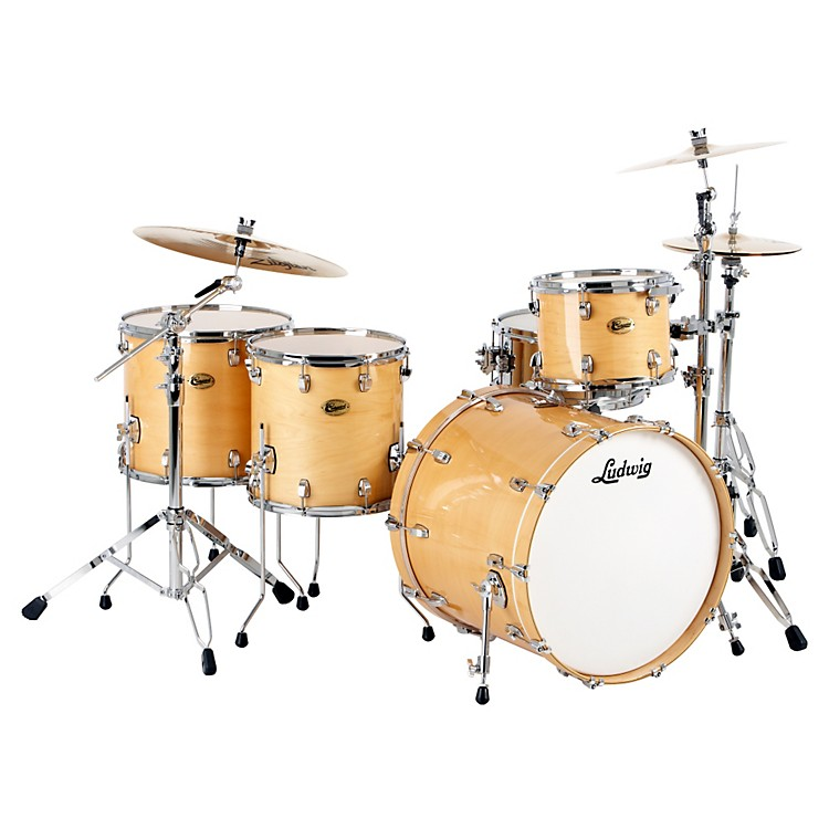 Ludwig Centennial Dragster 4-Piece Shell Pack Natural
