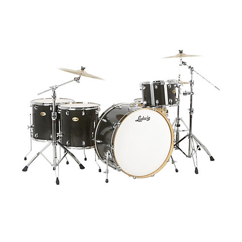 Ludwig Centennial Zep 4-Piece Shell Pack Charcoal