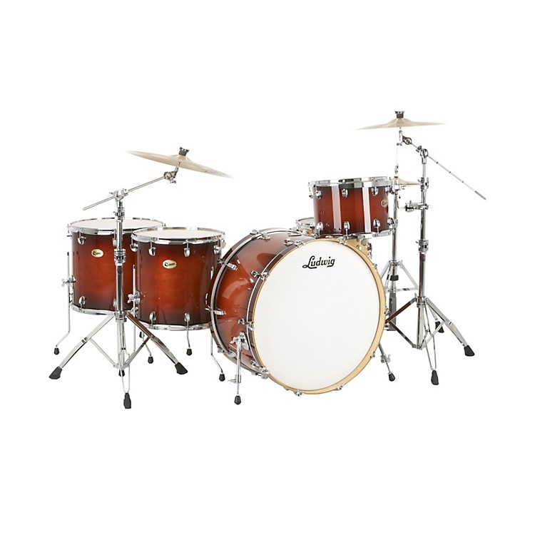 Ludwig Centennial Zep 4-Piece Shell Pack Mahogany Burst